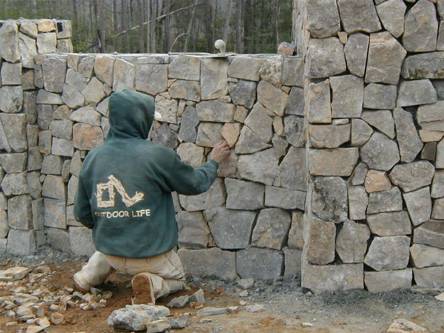 Brick stone masonry outdoor contracting for Brick or stone veneer