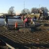 pouring a concrete