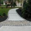 Brick & Concrete Pavers - concrete sidewalkwith paver edging