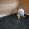 installing a horse stall flooring system