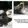 burying a boulder