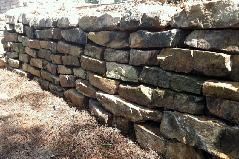 Dry Stack Fieldstone Retaining Wall : Retaining walls outdoor contracting
