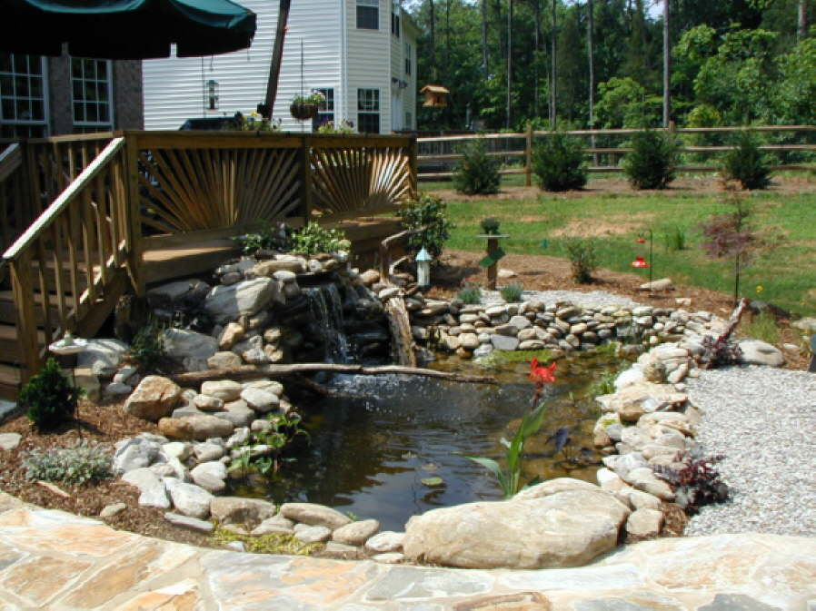 Waterfall and Koi Pond – Outdoor Life, Inc.