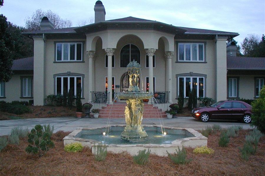 custom built fountain