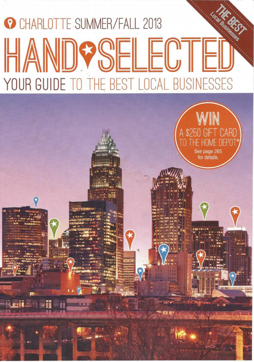 """Hand Selected"" The best of Charlotte Local Business Guide"