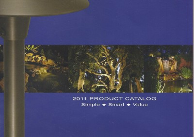 Outdoor Life Inc. Landscape lighting work featured on the cover of the 2011 Alliance Lighting Catalog