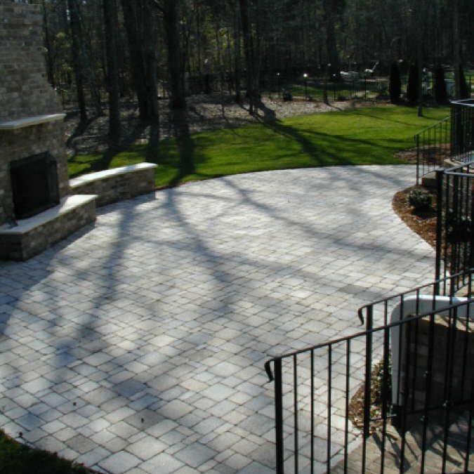 4 piece antique tumbled cobblestone paver patio