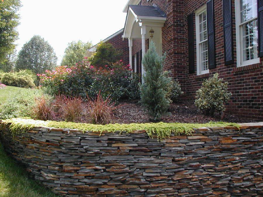 Stone Masonary Retaining Wall