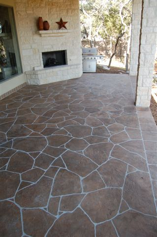 Decorative Concrete with Hand Carved Flagstone