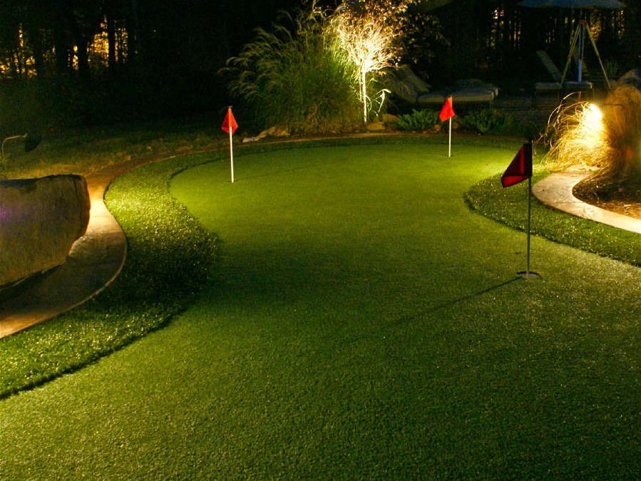 Putting Green With Accent Lighting