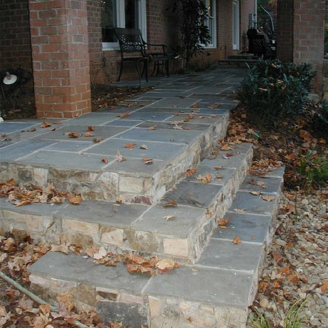 Patio with Beautiful Stone Masonry