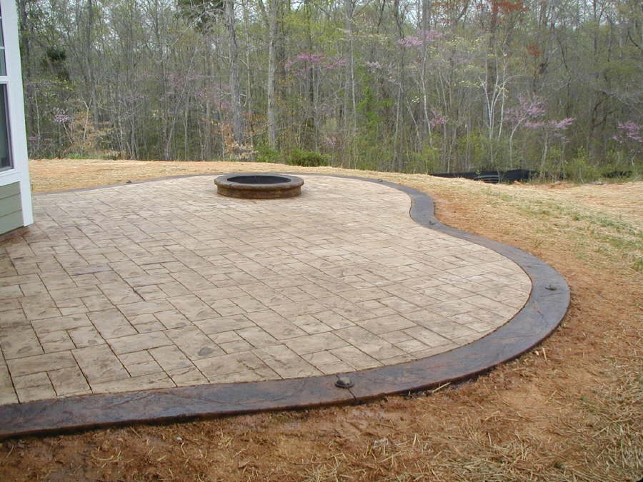 Ashlar Slate Stamped Pattern Patio #DecorativeConcrete