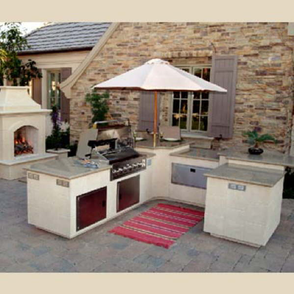 An #outdoor kitchen is a great way to entertain guests