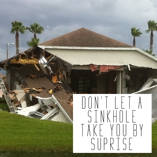 Don't let a sinkhole take you by surprise! #SinkholeRemediation
