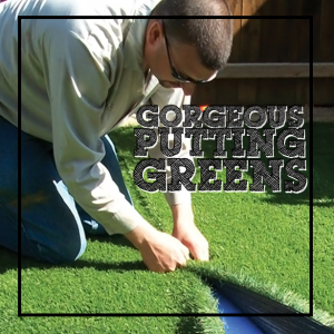 Landscaping with Synthetic Putting Greens