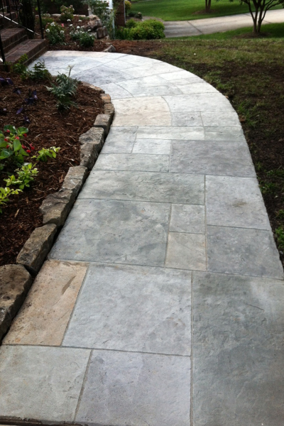 Decorative Concrete Pathway – Outdoor Life, Inc. #DecorativeConcrete