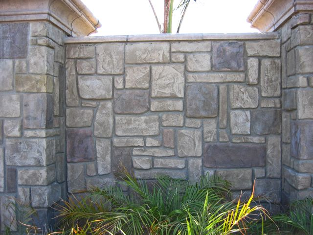 Decorative Concrete Entrance and Monument
