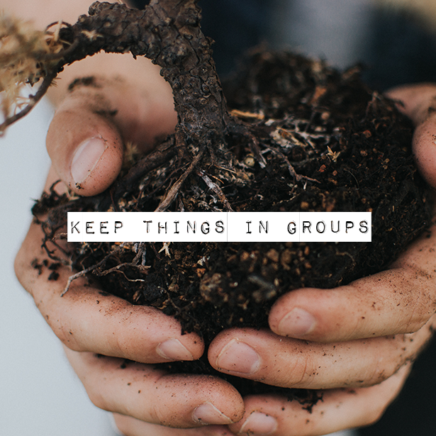 "Keep Things in ""Groups"" Outdoor Life, Inc. #LandscapeContracting"