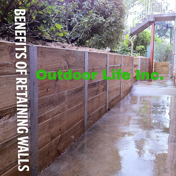 Benefits of Retaining Walls #RetainingWalls