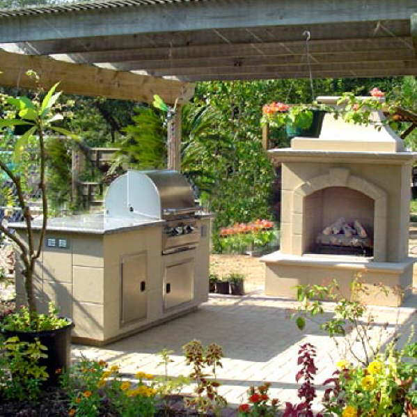 Outdoor fireplaces and kitchens make backyards fun - Things to consider when creating outdoor kitchens ...