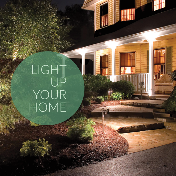 Light Up Your Home!  #LandscapeLighting