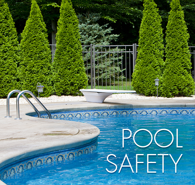 Stay safe if you have a pool by surrounding it with a fence.