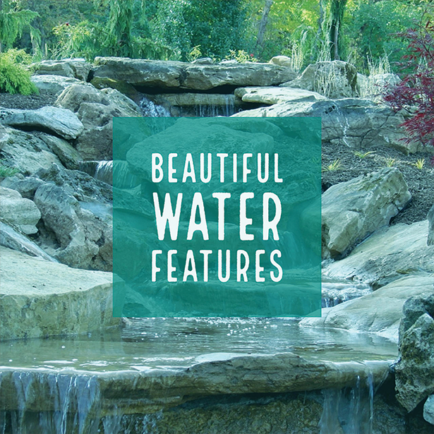 Beautiful Water Falls and Features #WaterFeatures
