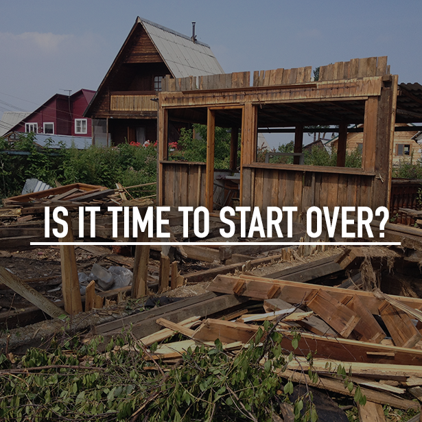 Is it time to start over?  #OutdoorLife #CommercialLandscaping