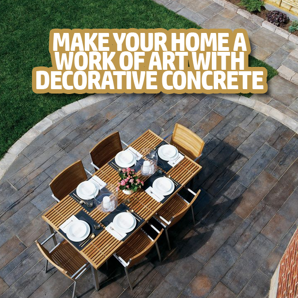 Make Your Home A Work Of Art With Decorative Concrete