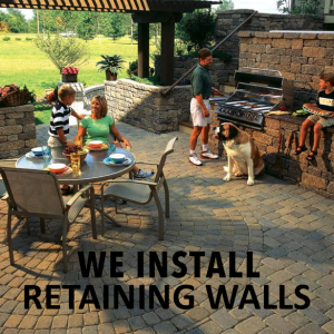 We Install Retaining Walls - Outdoor Life, Inc.