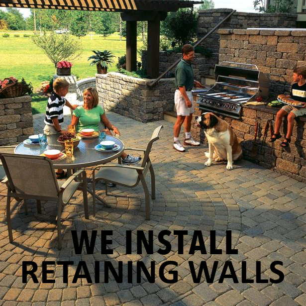 We Install Retaining Walls – Outdoor Life, Inc.