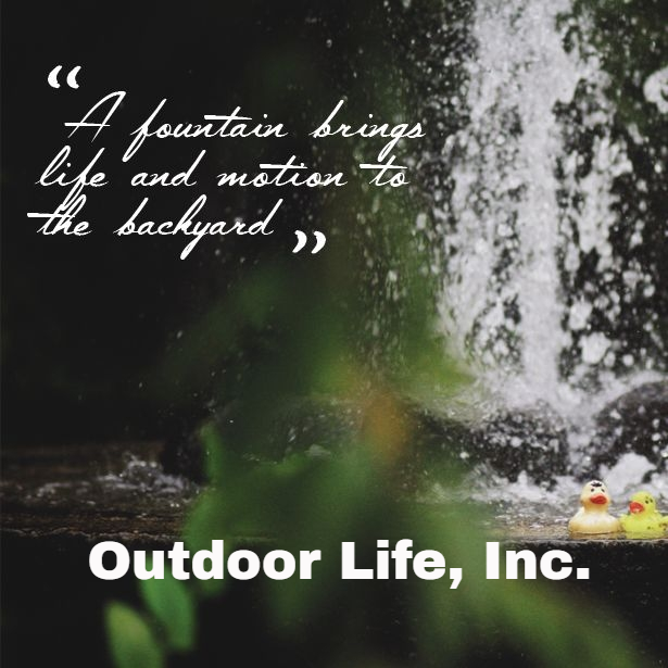 A Fountain Brings Life and Motion To Your Backyard